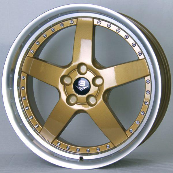 V8 V-71 20x8.5 Dark Gold with Machine Lip