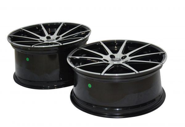 V8 V-15 20x10 Gloss Black with Machine Face