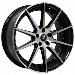 V8 V-15 20x8.5 Gloss Black with Machine Face