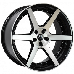 V8 V-61A 20x10 Gloss Black with Machine Face