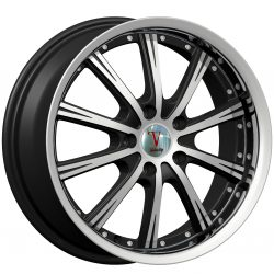 Velocity VW-003 17x7 Gloss Black with Machine Face