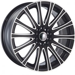 Velocity VW-005 17x7 Gloss Black with Machine Face