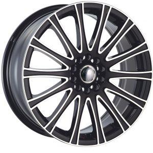 Velocity VW-005 17x7 Gloss Black with Machine Face