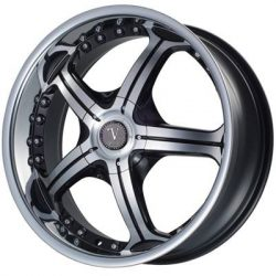 Velocity VW-009 20x8 Gloss Black with Machine Face