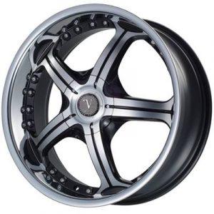Velocity VW-009 20x8 Gloss Black with Machine Face