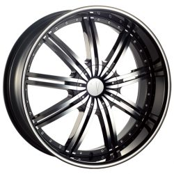 Velocity VW-118 17x7 Gloss Black with Machine Face and Pinstripe