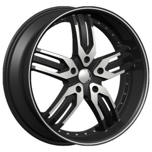 Velocity VW-125A 20x8.5 Gloss Black with Machine Face