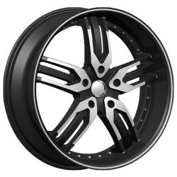 Velocity VW-125A 17x7 Gloss Black with Machine Face