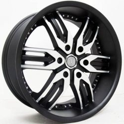 Velocity VW-125B 20x9 Matt Black with Machine Face