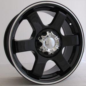 Velocity VW-445 18x7.5 Gloss Black with Machine Pinstripe