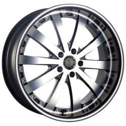 Velocity VW-77A 20x8.5 Gloss Black with Machine Face and Pinstripe