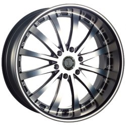 Velocity VW-77B 20x8.5 Gloss Black with Machine Face and Pinstripe