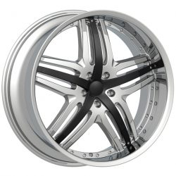 Velocity VW-810A 18x7.5 Chrome with Paintable Inserts