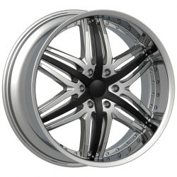 Velocity VW-810B 22x9.5 Chrome with Paintable Inserts