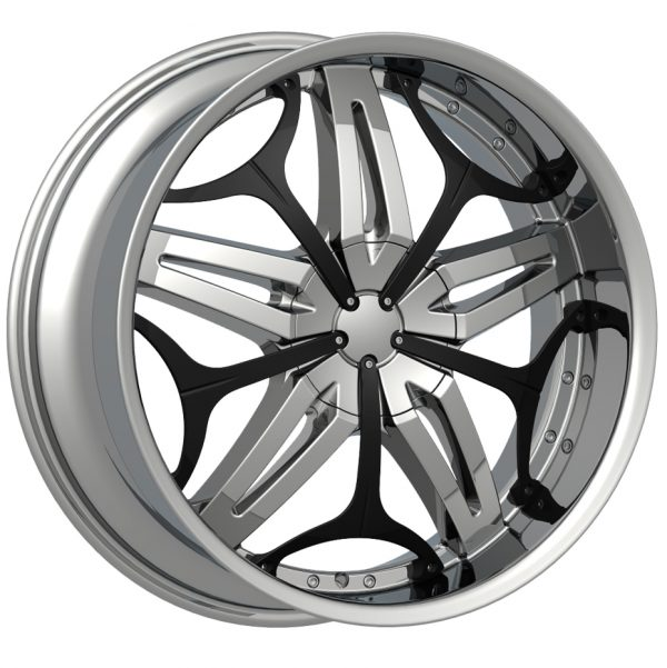 Velocity VW-815 22x9.5 Chrome with Paintable Inserts