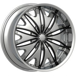 Velocity VW-820 22x9.5 Chrome with Paintable Inserts