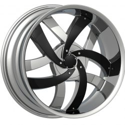 Velocity VW-825 22x9.5 Chrome with Paintable Inserts