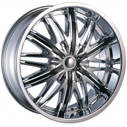 Velocity VW-830 22x9.5 Chrome with Paintable Inserts