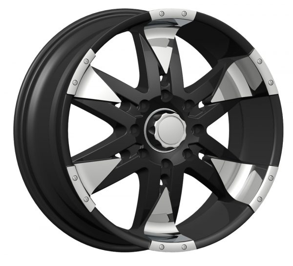 Velocity VW-840 22x10 Gloss Black with Machine Face