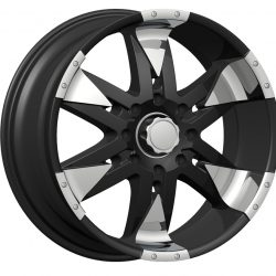 Velocity VW-840 18x8 Gloss Black with Machine Face