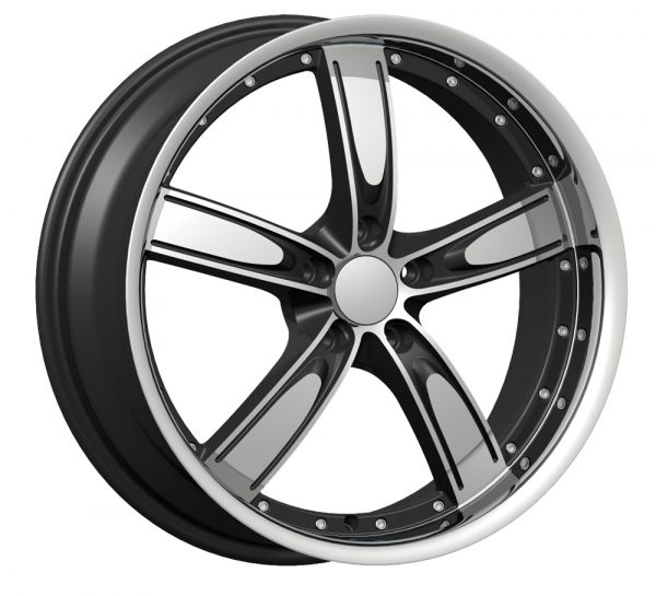 Velocity VW-850A 22x9.5 Gloss Black with Machine Face