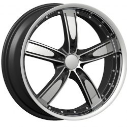 Velocity VW-850A 20x7.5 Gloss Black with Machine Face