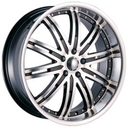 Velocity VW-865A 18x7.5 Gloss Black with Machine Face