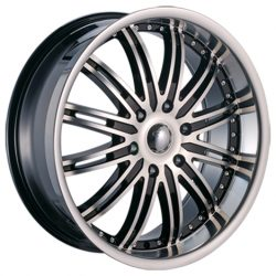 Velocity VW-865B 20x8.5 Gloss Black with Machine Face