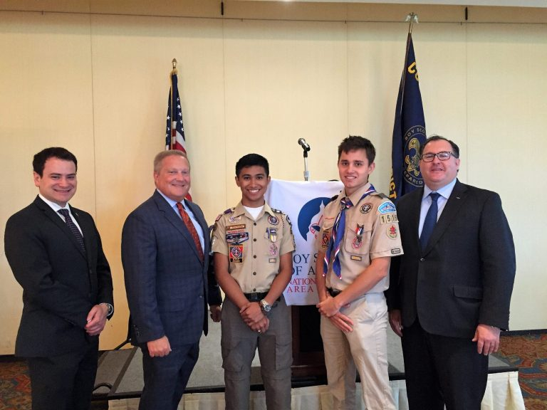 Boy Scouts Colonial District's First Eagle Scout Emissaries