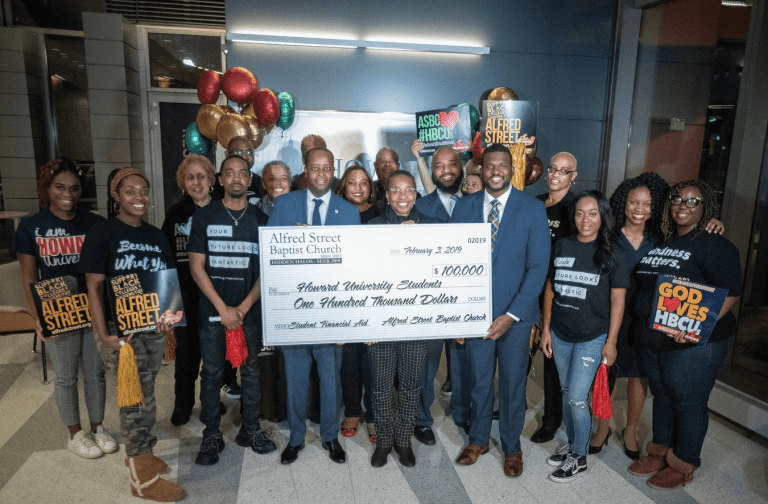 Alfred Street Baptist Church Awards Howard University $100K To Pay Off Student Tuition and Fee Balances