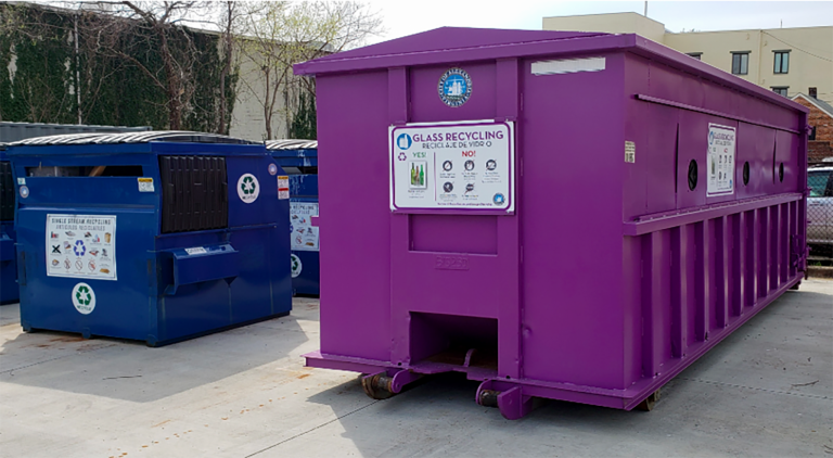 Alexandria Opens Purple Recycling Drop-Off Points for New Glass Recovery Program
