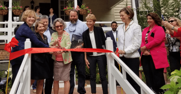 Alexandria Visitors Center Grounds Pop with Color, Thanks to Garden Club
