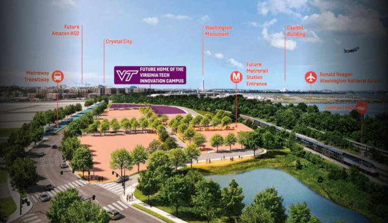 Virginia Tech Chooses Alexandria's Potomac Yard For 15-Acre Innovation Campus