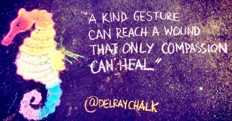 In Z Hood: Mystery Chalk Artist Inspiring Kindness in Alexandria