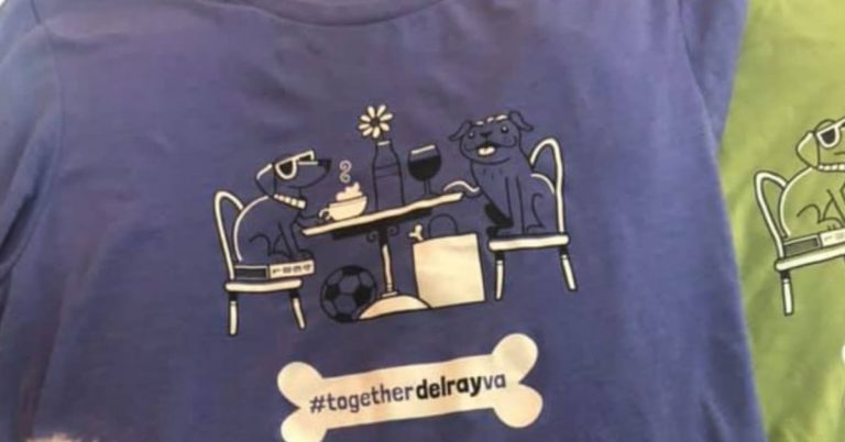 New Dog-Themed Del Ray T-Shirt is Huge 'Pay It Forward' for Restaurants