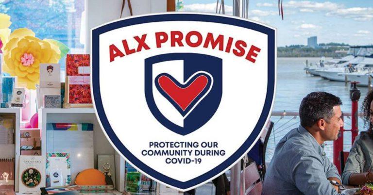 35 Restaurants Sign Alexandria's ALX PROMISE Sanitation Safety Pledge