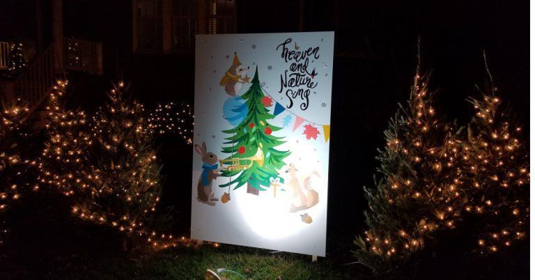 Giant Holiday Cards Bring Giant Smiles to Alexandria Neighborhood Block