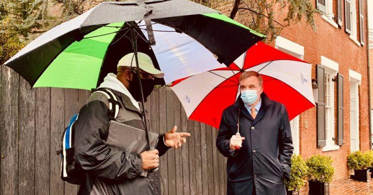 Senator Mark Warner Visits Alexandria's Black History On Walking Tour Led by City Councilman John Chapman