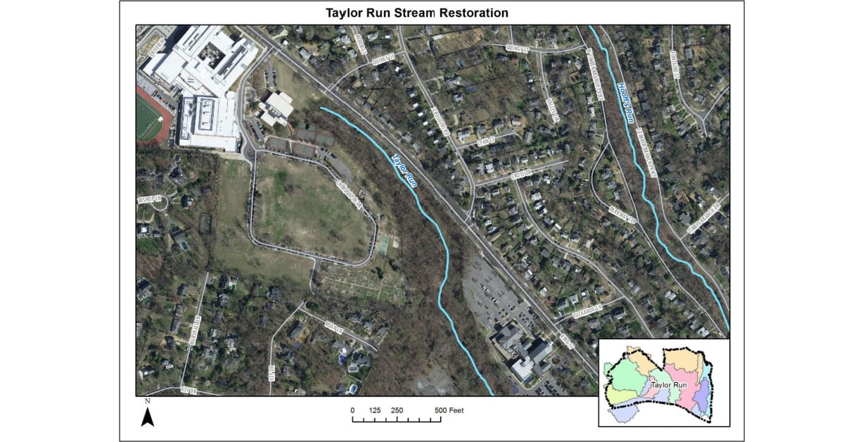 Aerial View of Taylor Run Map (Image: City of Alexandria)