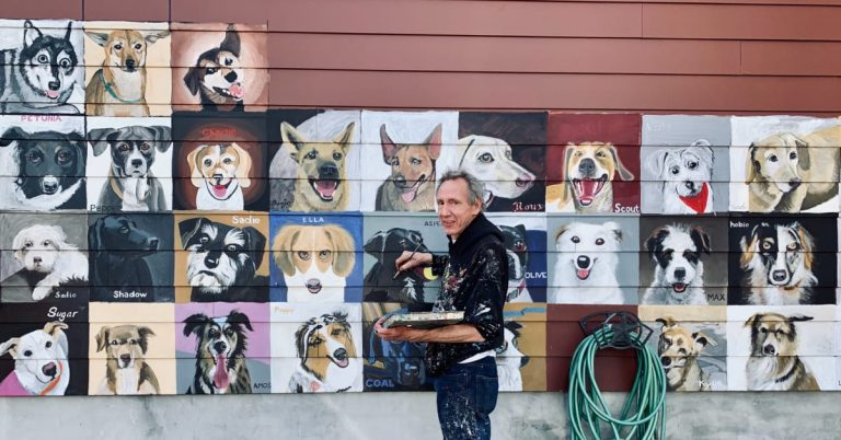 200 Dogs on Waiting List for New 'Dogs of Del Ray' Mural, Officially Opening on May 6