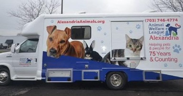 The Animal Welfare League of Alexandria Has a New Mobile Vehicle for Onsite Surgeries