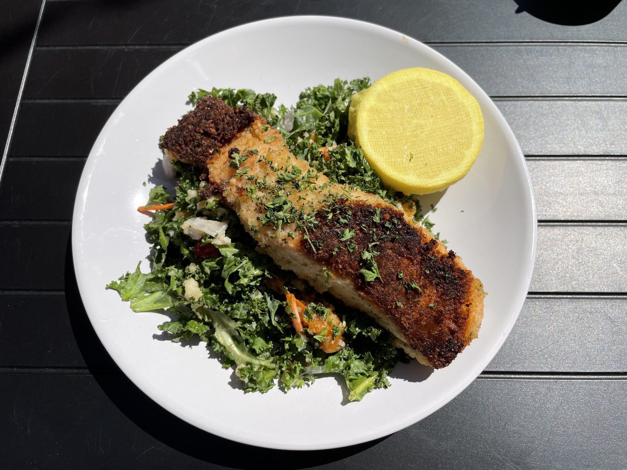 The salmon kale coucous salad is a go-to favorite. (Photo: Kelli Goel)
