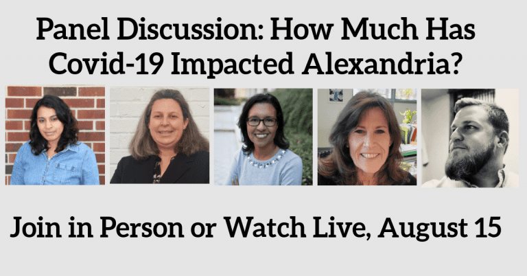 Panel Discussion: How Much Has COVID-19 Impacted Alexandria, and How Can You Help?