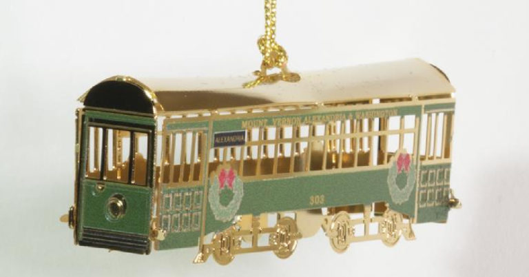 City Taking Orders for Trolley Ornament Honoring Historic Railway