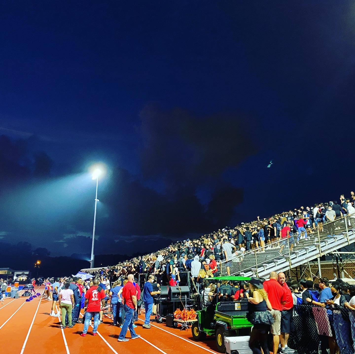 The sold-out crowd cheered the Alexandria Titans to victory Friday night under the new lights. (Photo: Jessica E. Hillery)
