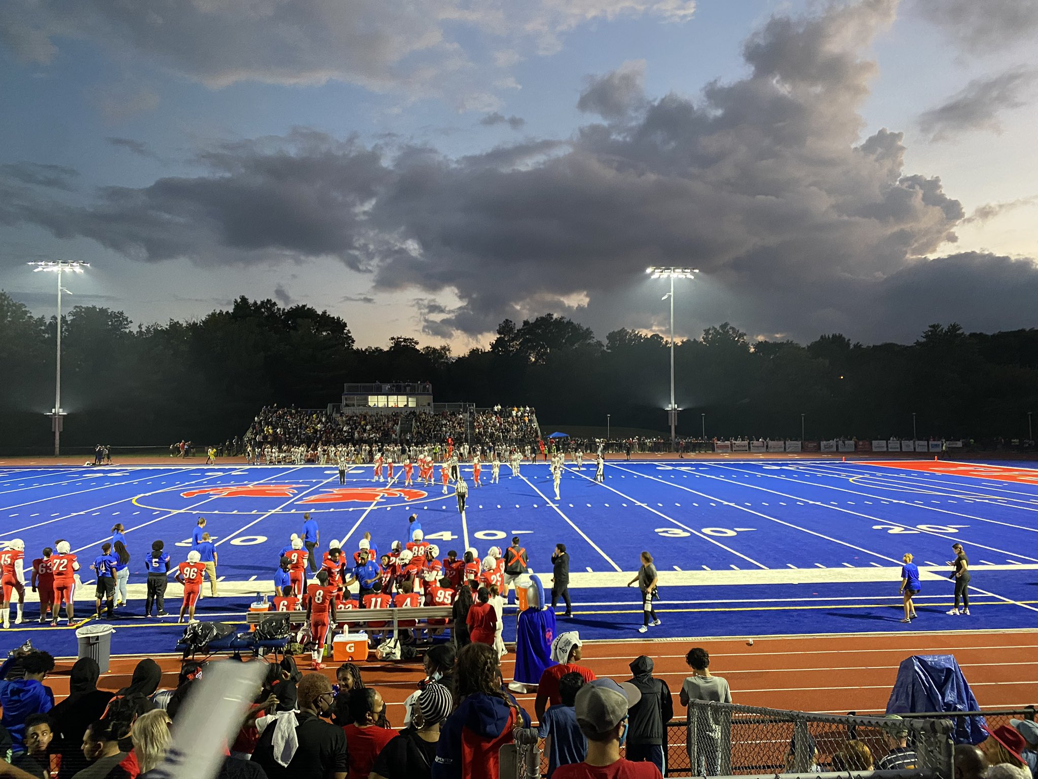 Alexandria High School football is lighting up the whole community in the newsly renovated Parker-Gray Memorial Stadium. (Photo: ACPS)