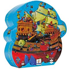 Puzle silueta Barco Pirata de Djeco