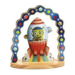 Lámpara de noche de madera Mister Zinzin de Djeco