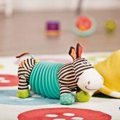 Squeezy Zeeby juguete musical cebra