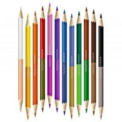 Tubo de 12 lápices de colores de doble punta de Avenue Mandarine